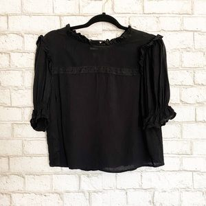 NWT Wild Fable Ruffle Short Sleeve Top Small